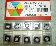x10 PLANSEE TIZIT CARBIDE INSERTS CNGG 120408EN-CF TCM10  NEW