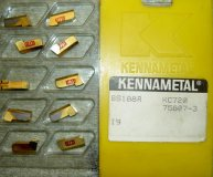 x10 KENNAMETAL PARTING INSERTS GS188R KC720 (4.8MM/0.188 WIDE) NEW