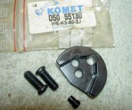 KOMET U-DRILL INSERT SPARE SEATING D50 55130 (WE-K3-60-2J) SEAT x2 SCREWS & PIN