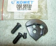 KOMET U-DRILL INSERT SPARE SEATING D50 55330 (WE-K3-60-2A) SEAT x2 SCREWS & PIN