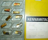 x9 KENNAMETAL PARTING INSERTS GS188R KC720 (4.8MM/0.18