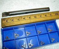 8MM CARBIDE BORING BAR E08K-STUPR 08 +10 INSERTS TPGT 080202L CUT SHORT