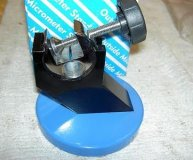 TOOLMEX MICROMETER STAND ROUND HEAVY BASE MIC STAND BLUE BASE NEW