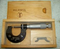 0-1 inch micrometer micropol carbide tipped anvils spanner boxed